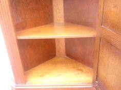 Cabinet Ornate Oak Finished Corner Display Cabinet Leaded Glazed Door REDUCED | eBay Kitchen Display Cabinet, Bookcase, Shelves, Doors, Ebay, Home Decor, Shelving, Decoration Home, Room Decor