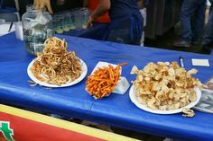 Curly fries, sweet potato fries and twisted taters, food stand at The Telluride Blues &Brews Festival. Photo by Gerry / gerrydawe. Telluride Blues And Brews, Curly Fries, Food Stands, Sweet Potato, Brewing, Waffles, Breakfast, Ethnic Recipes, Canon
