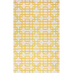 Surya Hand-tufted Deil Yellow Rug