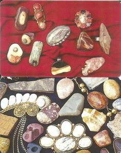 Oman:used telecard:rings, bracelets and pendants made of stones- 2 phonecards