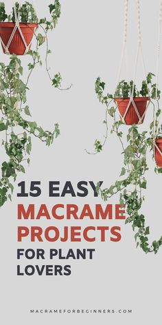 Attention to all plant lovers! Looking for more creative ways to display your gorgeous plants? Here are 15 easy DIY #Macrame projects to decorate your home, balcony, and garden on a budget! With my previous post about DIY Macrame Plant Hangers going crazy viral on Pinterest, I figured you might want to see some more ideas. From classic Macrame plant hangers to a super cute yarn project to make your own cactus, this should give you plenty of inspiration for your next green Macrame project.