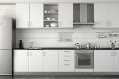idée de cuisine blanche et moderne