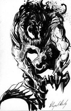 Venom by Abz-J-Harding on DeviantArt Comic Villains, Comic Book Characters, Comic Character, Comic Books Art, Comic Art, Marvel Venom, Marvel Art, Marvel Comics, Spiderman Pictures