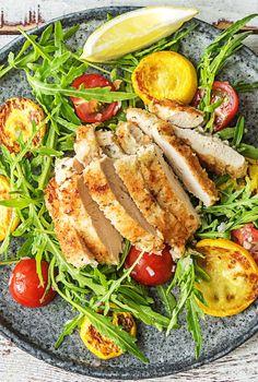 Healthy crispy chicken milanese salad recipe   More easy recipes on hellofresh.com