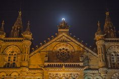 CST railway station on the full moon day
