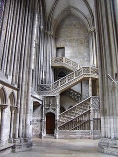The Notre-Dame Cathedral in Rouen - Click image to find more Travel & Places Pinterest pins