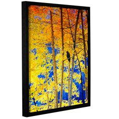Autumn Raven By Chris Vest Framed Painting Print