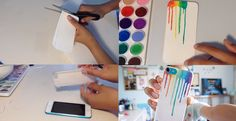 Trace out your phone on paper to create an inlay and frame the rainbow in a clear case. | 17 Cheap And Easy DIY Phone Cases You Can Make At Home Right Now