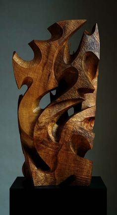 Wood sculpture available at David Groth's studio