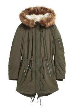 Padded parka - Green - Ladies | H&M GB