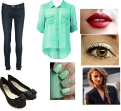Perfect outfit for spring Outfits For Teens, Cute Outfits, Red Lips, My Outfit, Spring Outfits, How To Make, How To Wear, Fashion Looks, My Style