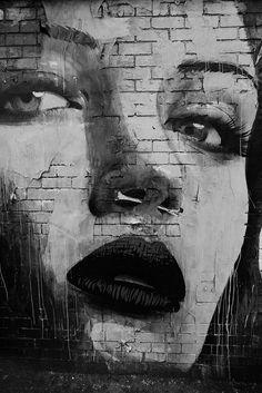 paxmachina: Bone and Sparcs - Melbourne, Australia Graffiti. Urban Street Art, Best Street Art, 3d Street Art, Street Art Graffiti, Street Artists, Urban Art, Art Banksy, Graffiti Artwork, Tachisme