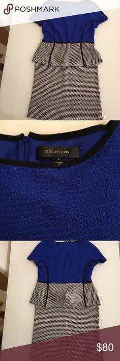 "ST.JOHN dress St. JOhn dress made in USA /  length 35 1/2"" / chest 18 1/2"" / back zipper 17"" / 62"" rayon / 36% wool / 2% nylon St. John Dresses Midi"