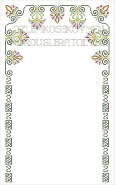 Mini Cross Stitch, Cross Stitch Flowers, Cross Stitch Patterns, Prayer Rug, Green Lace, Needlework, Projects To Try, Baby Nest, Crossstitch