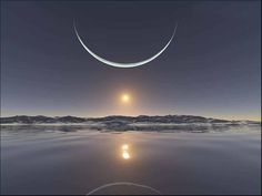 Winter solstice sunset at the north pole