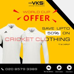 bbb536897cd World Cup Offer ... Cricket Clothing  Upto 50% Off! Order yours