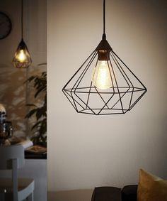 Eglo Lampe Suspension E27 Ø325 'Tarbes'(Noir Mat): Amazon.fr: Luminaires et Eclairage