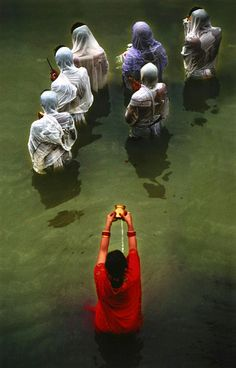 Beautiful moment of purification and color...India by Sudip Roychoudhury