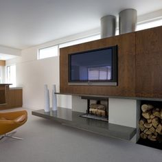 Fireplace Tv Diseño residencial Design Ideas, Pictures, Remodel and Decor