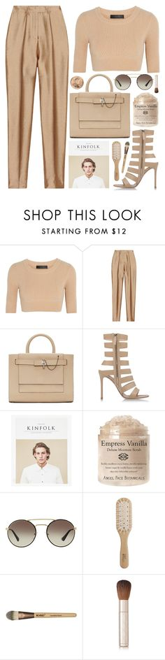 """Untitled #1312"" by noviii ❤ liked on Polyvore featuring Calvin Klein Collection, Haider Ackermann, Carven, Gianvito Rossi, Prada, Philip Kingsley and By Terry"