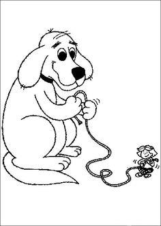 Desenhos para colorir para crianças. Desenhos para imprimir e colorir Clifford 29