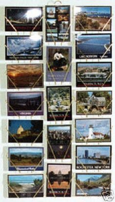 "1 New Black 19 Full View Pocket 4"" x 6"" Scenic View Postcard Wall Display Rack"