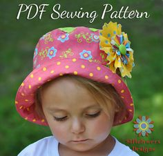 Bucket Hat Sewing Pattern by Stitchwerx Designs! Easy to Make! Sizes child to adult! Perfect for Sunny Summer Days!