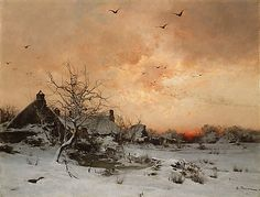 Léon-Germain Pelouse (French, 1838–1891). January: Cernay, near Rambouillet. The Metropolitan Museum of Art, New York. Gift of Mabel Schaus, 1887 (87.24) #snow