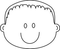 Boy Happy Face with Spiky Hair Coloring Page | Greatest Coloring ...