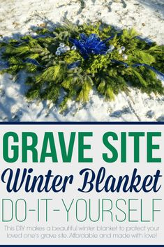 Learn how to make a blanket to cover for your loved one's grave site during the cold and winter months. Grave Flowers, Cemetery Flowers, Funeral Flowers, Diy Flowers, Flower Decorations, Flower Ideas, Christmas Arrangements, Silk Flower Arrangements, Diy Grave Blankets