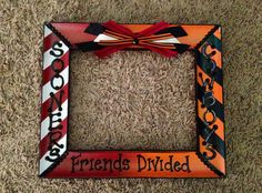 DIY OU OSU painted picture frame