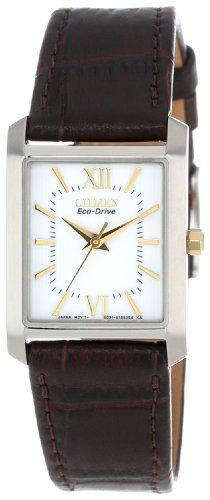 "Citizen Women's EP5914-07A ""Eco-Drive"" Stainless Steel and Brown Leather Watch - http://www.specialdaysgift.com/citizen-womens-ep5914-07a-eco-drive-stainless-steel-and-brown-leather-watch/"