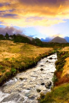 Faerie Lands - Beautiful Morning on the Isle of Skye - Modern hi-res digital canvas print from http://www.the-artwork-factory.com/photo-art/faerie-lands-beautiful-morning-on-the-isle-of-kye-photo-art.html By The Artwork Factory®.