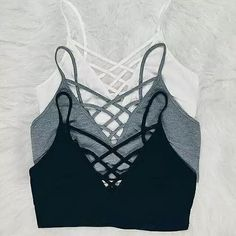 Solid, sleeveless crop top in a fitted style with a front corset tie and an open back. Rayon Polyester - Tap the pin if you love super heroes too! Cause guess what? you will LOVE these super hero fitness shirts! Lingerie Set, Women Lingerie, Summer Outfits, Cute Outfits, Fall Outfits, Mode Top, Lingerie Collection, Dance Outfits, Look Cool