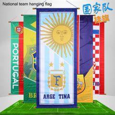 Rússia 2018-Copa Do Mundo Bandeira Decorativa equipe logotipo cartazes pendurado Bandeiras Pinturas