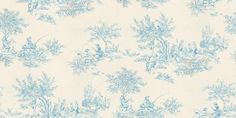 Etienne (60101) - Harlequin Wallpapers - A traditional style French inspired pastoral scene toile – a classic given a twist with some contemporary colours together with traditional colours. Available in 8 colours – shown in the blue on white. Please ask for sample for true colour match.