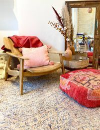 Vintage Moroccan poufs to elevate any Neutral interior