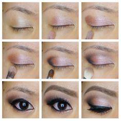UD Naked 3 palette - rose smoky eyes