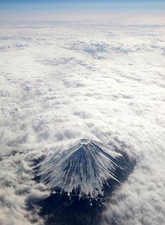 Mt. Fuji looks magical from up in the air  Visit japan-marche.com to find traditional and designed, quality Japanese items for your home and interior.