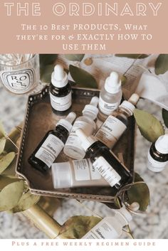 The Best Products from Skincare Line: The Ordinary. Exactly what they do and how to use them. The best products from The Ordinary, what they're for and exactly how and when to use them. I'm breaking down all the items you NEED for the best skin you've Beauty Care, Beauty Skin, Beauty Hacks, Health And Beauty, Beauty Tips, Beauty Products, Beauty Ideas, Diy Beauty, Healthy Beauty
