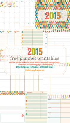 10 calendários 2015 para você baixar, imprimir e se organizar. #downloadfree #calendario2015 #freebie #calendary2015 #printable