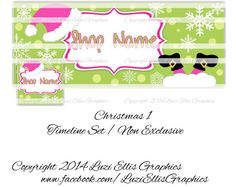 Christmas Santa Facebook Timeline Banner & by LuziEllisGraphics Holiday Fun, Christmas Holidays, Printed Ribbon, Facebook Timeline, Fb Covers, Collage Sheet, Fun Activities, Custom Design, Etsy Seller
