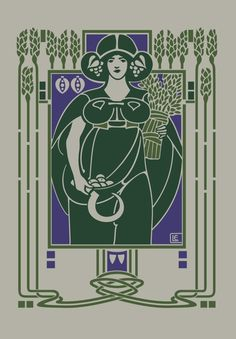 A bookcover designed by Ethel commissioned by Talwin Morris.