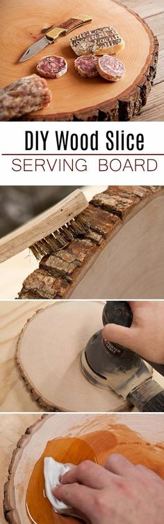 DIY Gifts For Men | Awesome Ideas for Your Boyfriend, Husband, Dad - Father , Brother and all the other important guys in your life. Cool Homemade DIY Crafts Men Will Truly Love to Receive for Christmas, Birthdays, Anniversaries and Valentine's Day | Wood Slice Serving Board for Him | http://diyjoy.com/diy-gifts-for-men-pinterest #boyfriendbirthdaygifts