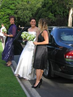 Bouquets with a touch of green... Perfect for a Garden Wedding. Contact: floralology@yahoo.com.au