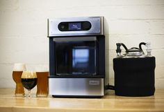 Pico is a fully automatic craft beer brewing appliance that allows anyone to brew mini-kegs of professional quality craft beer in the comfort of your own house. New Kitchen Gadgets, Brew Your Own, Home Brewing Beer, Beer Packaging, How To Make Beer, Keurig, Drip Coffee Maker, Craft Beer, Home Crafts