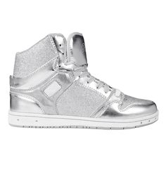 Adult Glam Pie Glitter Silver Sneakers - only $45!