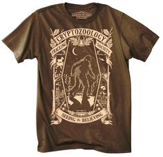 Glow in the Dark Cryptozoology Tracking by MaidenVoyageClothing, $28.00