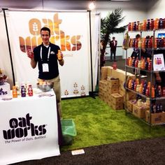 David Peters, CEO and Founder of #Oatworks, is ready for you at #ExpoWest! And hey, are those new bottles we see?! #booth5198