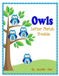 Very cute owl letter match game.....and it's a freebie!